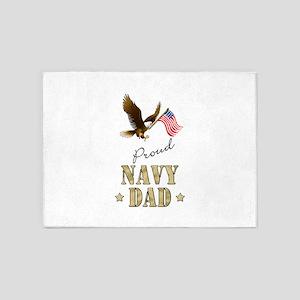 Proud Navy Dad 5'x7'Area Rug