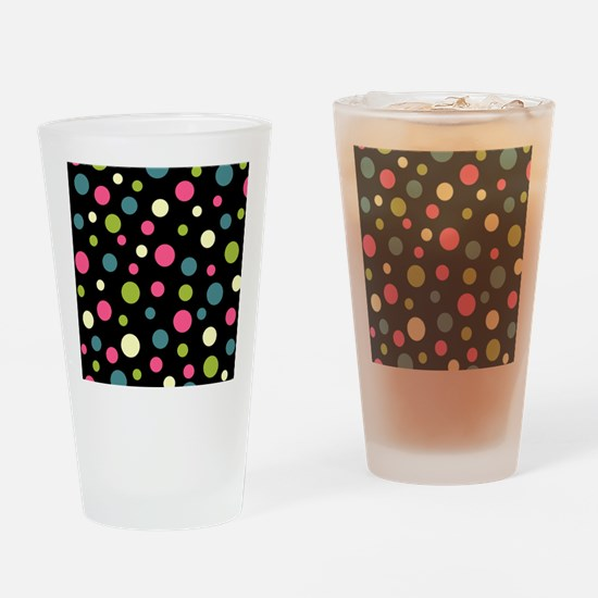 Twin Polka BlaPink Drinking Glass