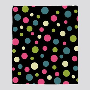 Twin Polka BlaPink Throw Blanket