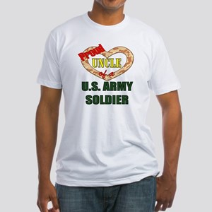 Proud Army Uncle Fitted T-Shirt