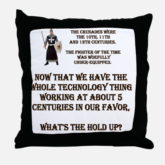 WOEFULL.gif Throw Pillow