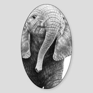 Baby Ele (Kindle Sleeve) Sticker (Oval)