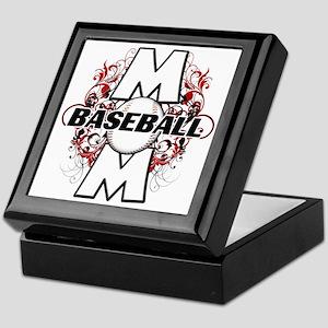 Baseball Mom (cross) copy Keepsake Box