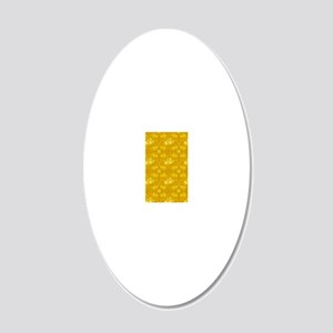 iPADgoldenyellowdaisies 20x12 Oval Wall Decal