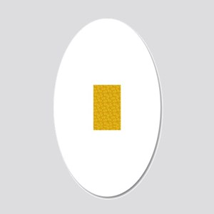 iPADgoldenflorellace 20x12 Oval Wall Decal