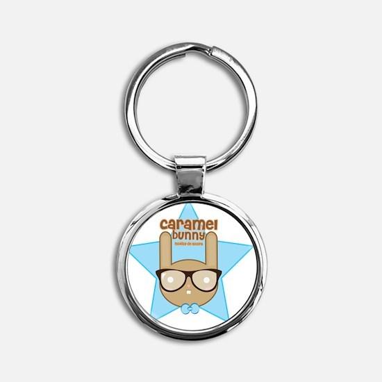 caramel-bunny2 Round Keychain