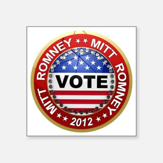 "romney_vote Square Sticker 3"" x 3"""