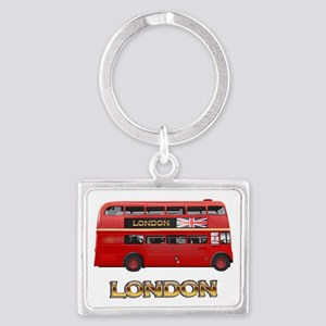 Red Bus-London Landscape Keychain