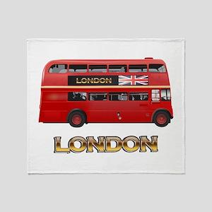 Bus-3W copy Throw Blanket