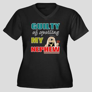 Unique aunt  Women's Plus Size Dark V-Neck T-Shirt