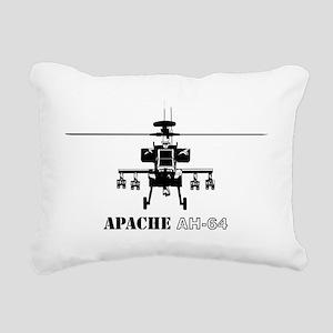 AH-64D Apache logbow red Rectangular Canvas Pillow