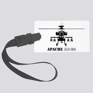 AH-64D Apache logbow redux front Large Luggage Tag