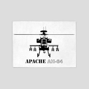 AH-64D Apache logbow redux front Bl 5'x7'Area Rug