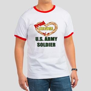 Proud Army Grandma Ringer T