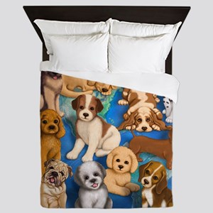 Dogs_Rule_16x20 Queen Duvet
