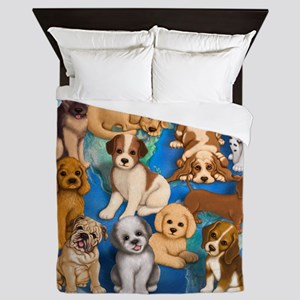 Dogs_Rule_16x16 Queen Duvet