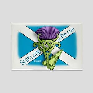 Devas Thistle flag 2 Rectangle Magnet