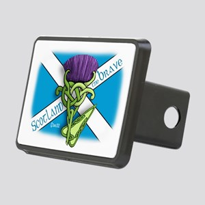 Devas Thistle flag 2 Rectangular Hitch Cover