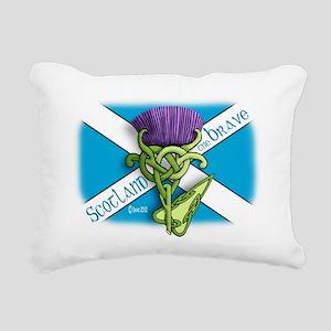 Devas Thistle flag 2 Rectangular Canvas Pillow