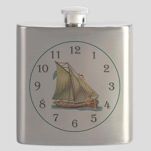 Clock Ship AhoyB Flask
