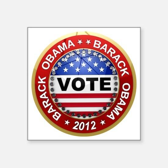 "obama Square Sticker 3"" x 3"""