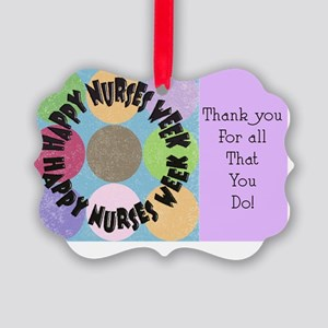 happy nurses week big polka dots Picture Ornament