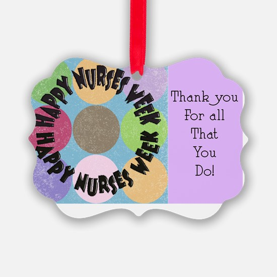 happy nurses week big polka dots Ornament