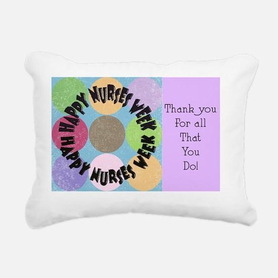 happy nurses week big po Rectangular Canvas Pillow