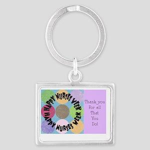 happy nurses week big polka dot Landscape Keychain