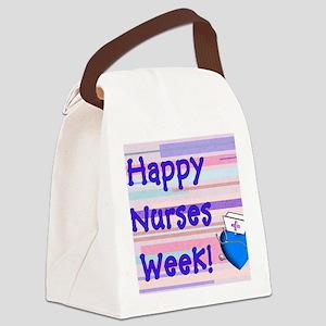 Happy Nurses Week Blue New Canvas Lunch Bag