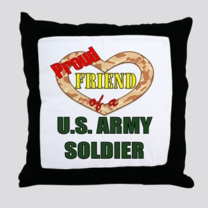 Proud Army Friend Throw Pillow
