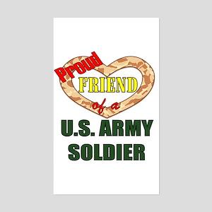 Proud Army Friend Rectangle Sticker