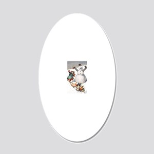 Thiele Cat 18 20x12 Oval Wall Decal