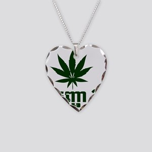 weed Necklace Heart Charm