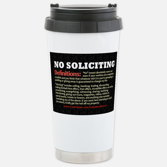 No Soliciting Definitions 3x5 Stainless Steel Trav