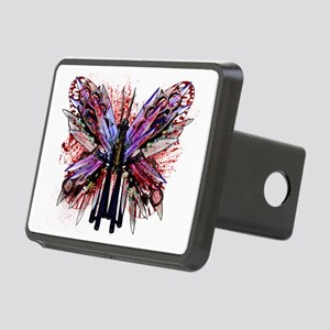 Butterfly Knives - White Rectangular Hitch Cover
