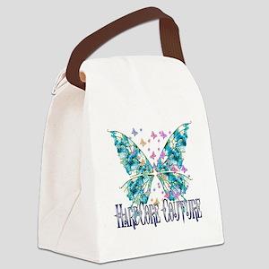 wings blue butterflies Canvas Lunch Bag