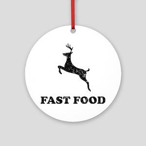 FAST FOODblack Round Ornament