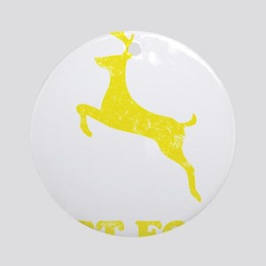 FAST FOODyellow Round Ornament