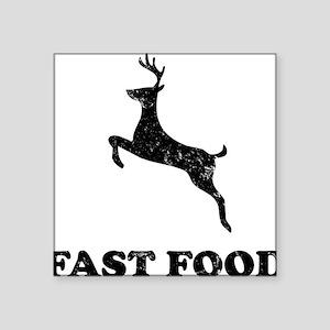 "FAST FOODblack Square Sticker 3"" x 3"""