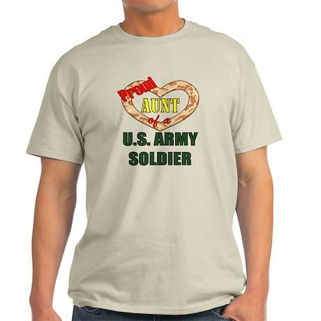 Proud Army Aunt Light T-Shirt