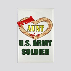 Proud Army Aunt Rectangle Magnet