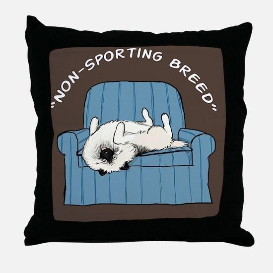 nonsportingskin Throw Pillow