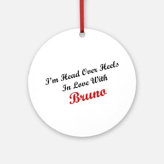 In Love with Bruno Ornament (Round)