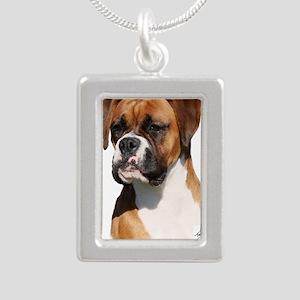 Boxer 9Y554D-123 Silver Portrait Necklace