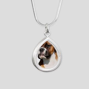 Boxer 9Y554D-123 Silver Teardrop Necklace