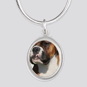 Boxer 9Y554D-123 Silver Oval Necklace