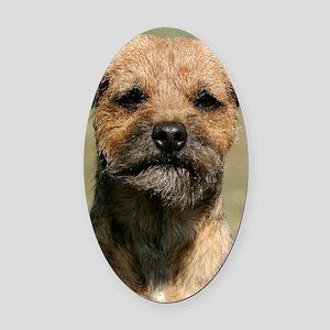 Border Terrier 9Y325D-038 Oval Car Magnet