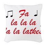 falalalalalalatkes Woven Throw Pillow