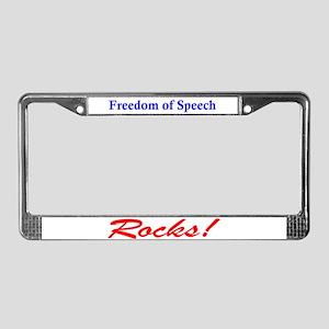 Freedom of Speech Rocks! License Plate Frame